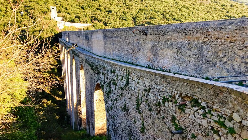 Il Ponte at top of Spoleto - leads directly into Sacred Mountains