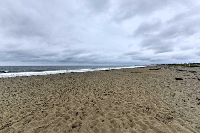 Den vackra Atlanten ligger bara en kort promenad från huset!