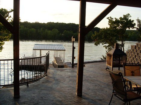 Private dock and fire pit