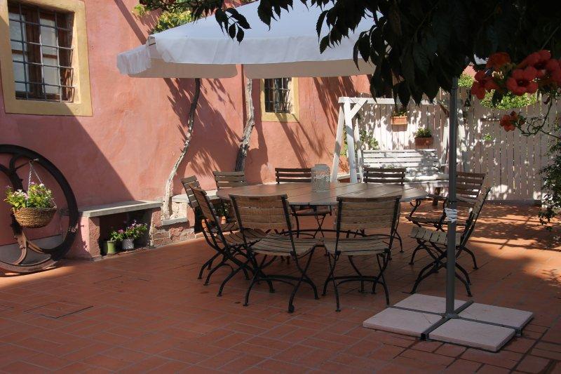 Plenty of space for dining al fresco on the terrace