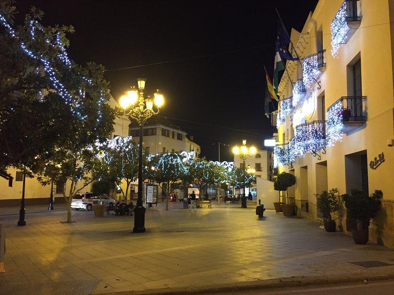 Velez Malaga town centre at Christmas