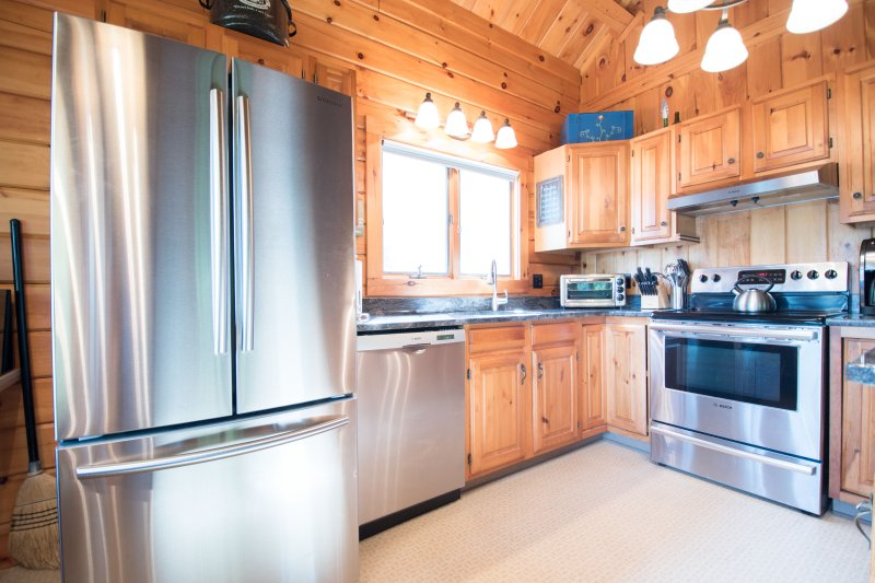 Beautiful Waterfront Log Cabin - White Mountains UPDATED ...