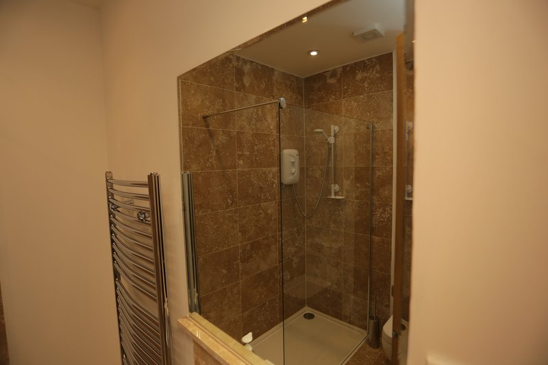 Downstairs bathroom with shower.  Ideal for guests using the sofa bed in the lounge.
