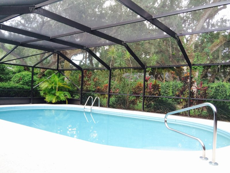 Large enclosed pool, solar heated