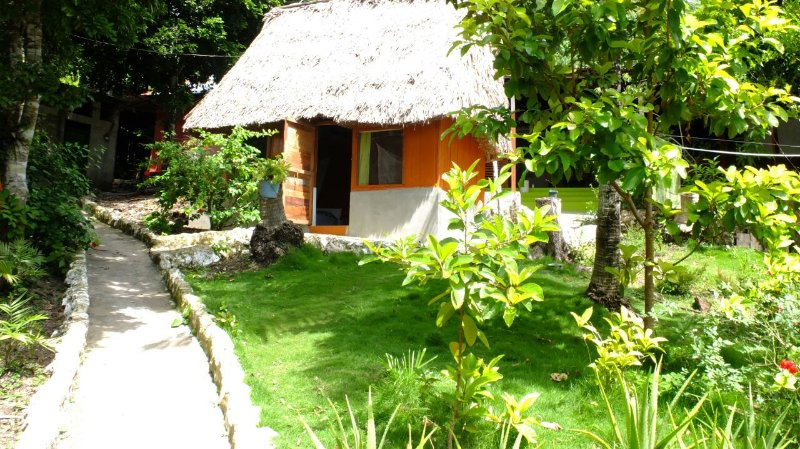 Double Bedroom Cottages Ecological Cottages is a traditional  Mayan construction