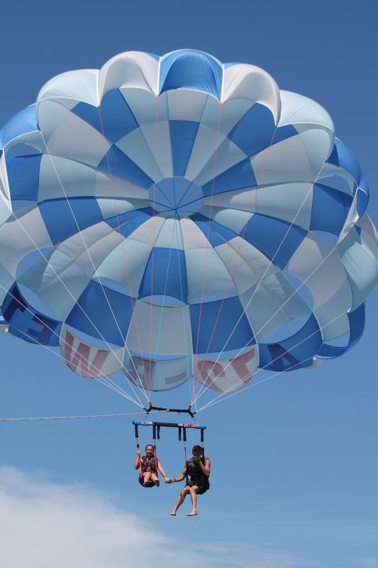 Parasailing right onsite at the water sports rental area.