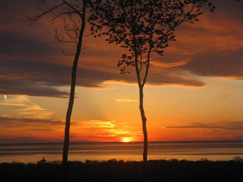Sunset view från balkongen i vårt rum