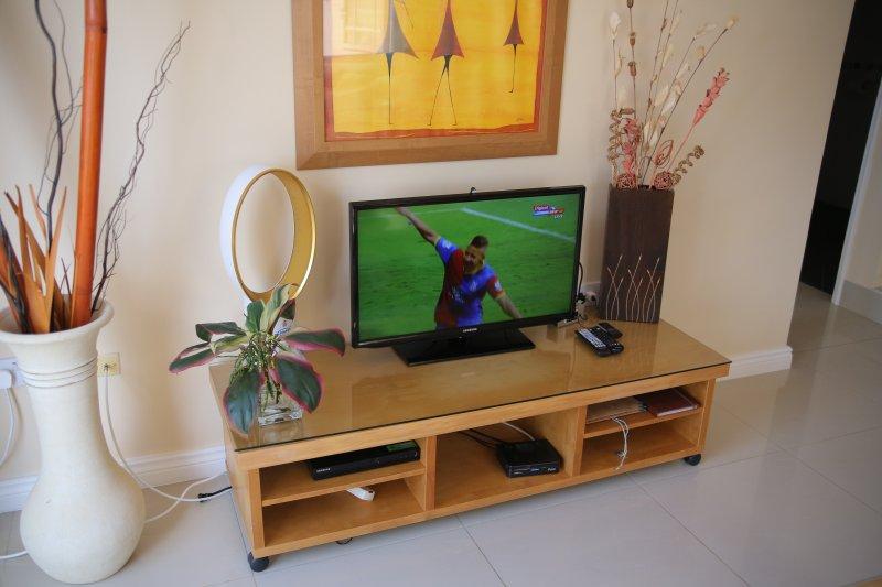 Plus de 200 chaînes de télévision par câble et internet haut débit dédié dans votre suite.