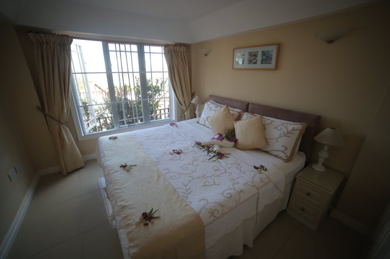 King size bed with great views and fully Air con.