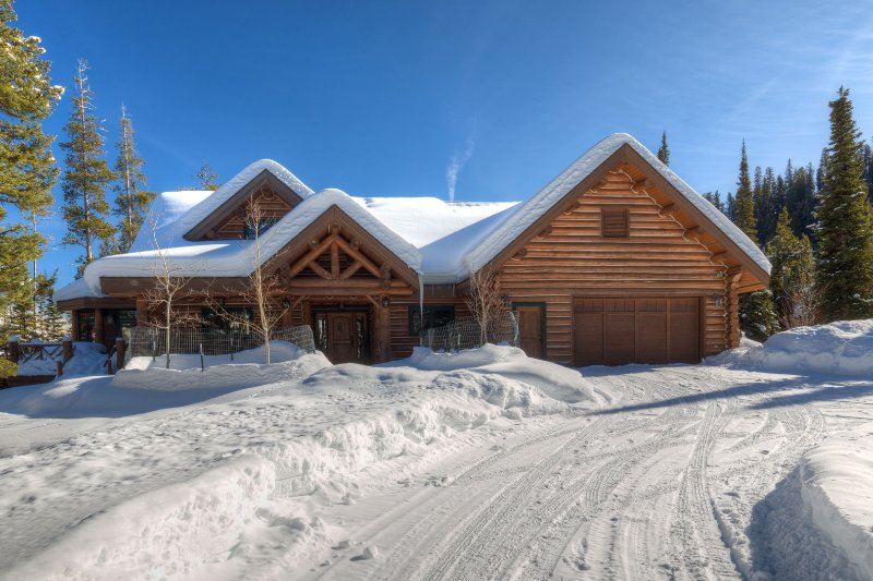 Exterior of this exquisite, private, ski in ski out home
