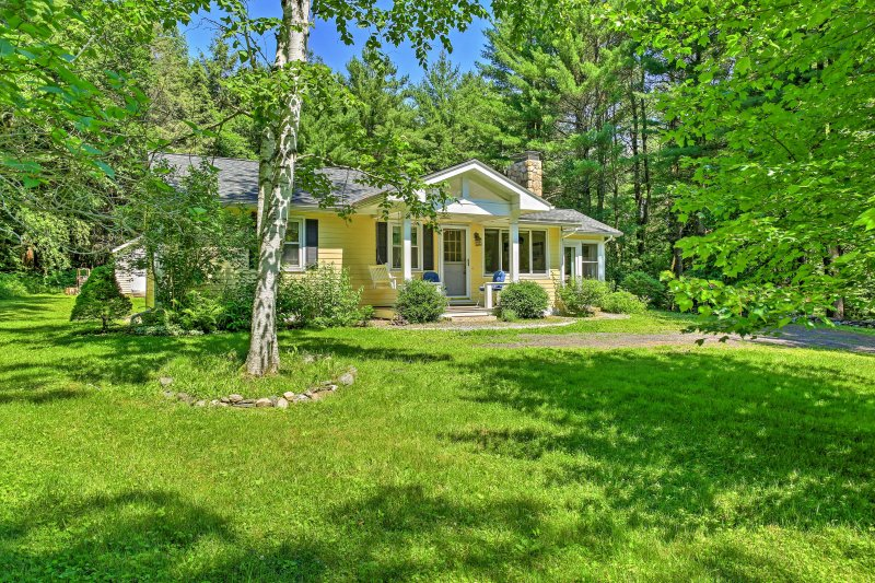Relish in the privacy of this 2-bedroom, 1-bathroom West Stockbridge vacation rental house that sits on 3-acres of lush land.