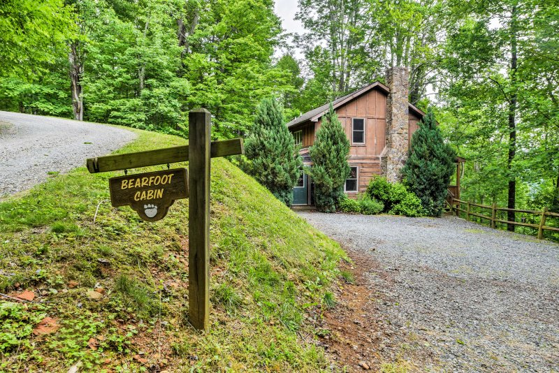 The home is nestled in the Valle Crucis woods, yet minutes from endless activities.