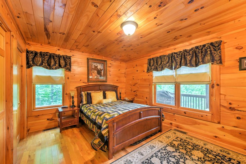 Each bedroom has a comfy bed for you to curl up in at the end of the day.