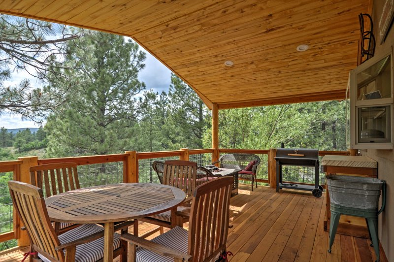 The ultimate outdoor retreat awaits at this rustic rental in Pagosa Springs.