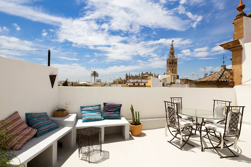 Private terrace overlooking the Cathedral.