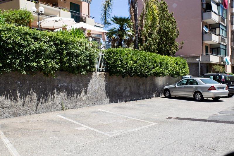 espaço de estacionamento reservado