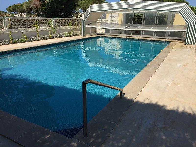 indoor heated pool in season