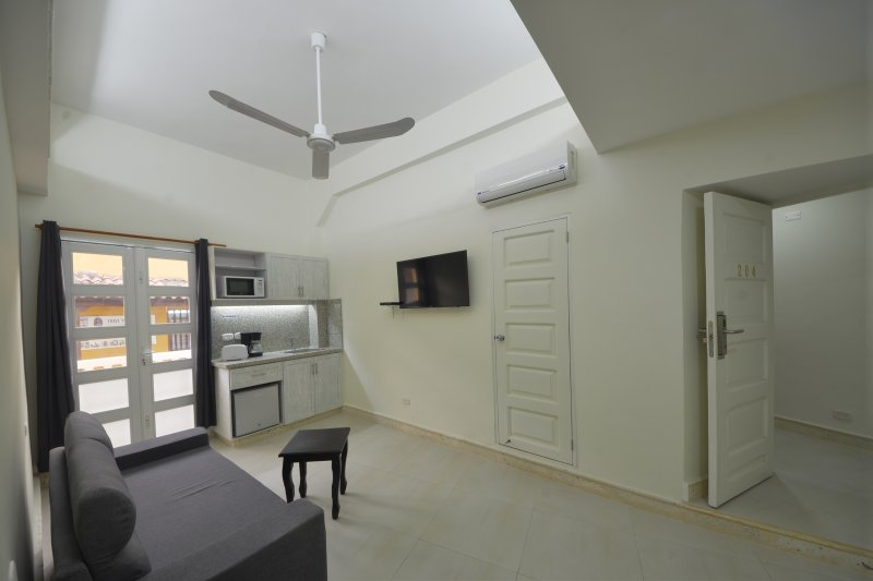 #204 one bedroom with mini kitchenette combines with studio #205 to make an accommodating 2 bedroom!