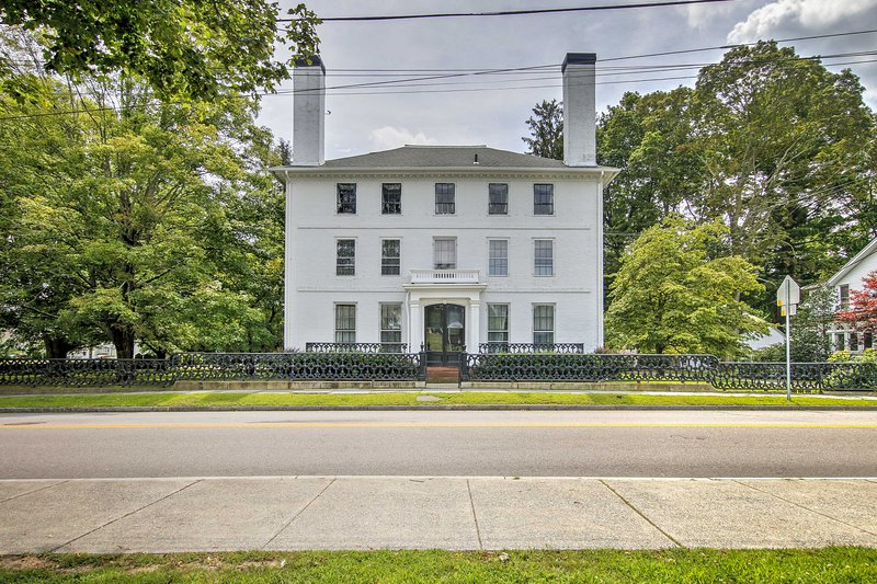 Let this stately and historic Norwich vacation rental house serve as your home base for exploring Connecticut!