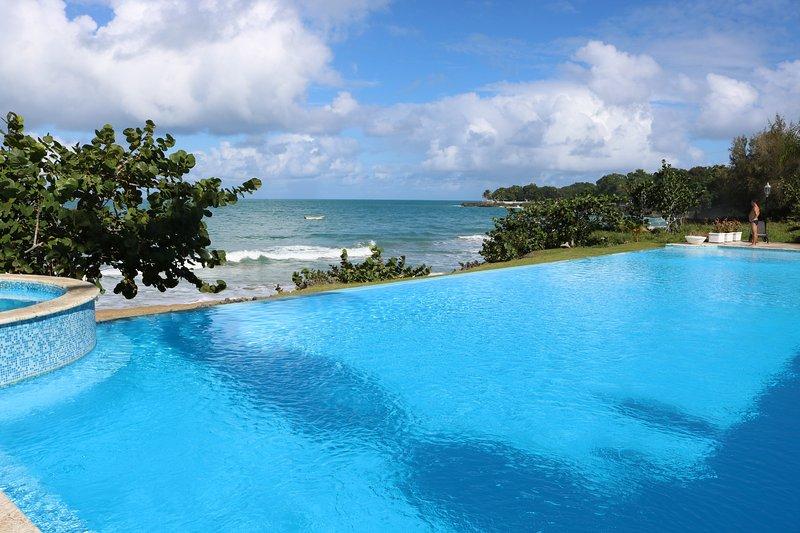 piscina con vistas al mar