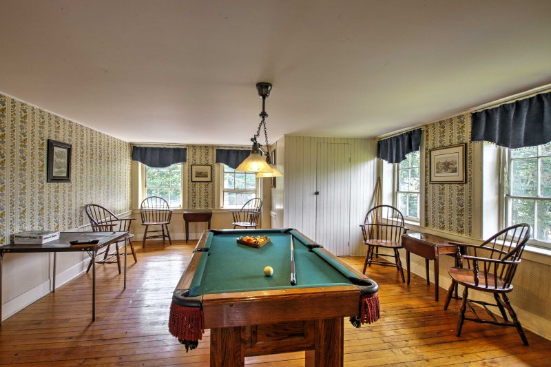 Play a fun game of pool in the billiards room!