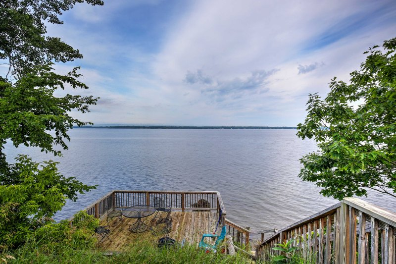 Find peace and tranquility at this waterfront vacation rental in Isle La Motte!