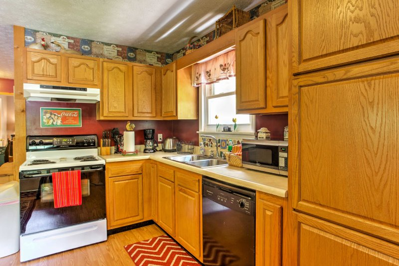 Cook up your favorite meals in the fully equipped kitchen.
