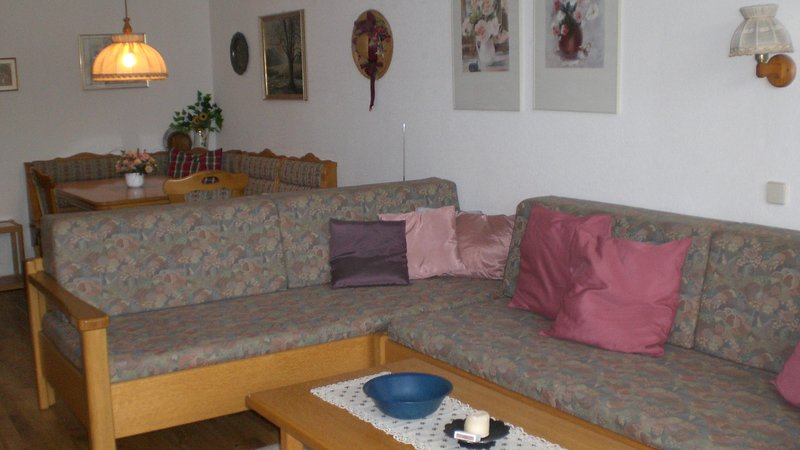 Seating area in the living room