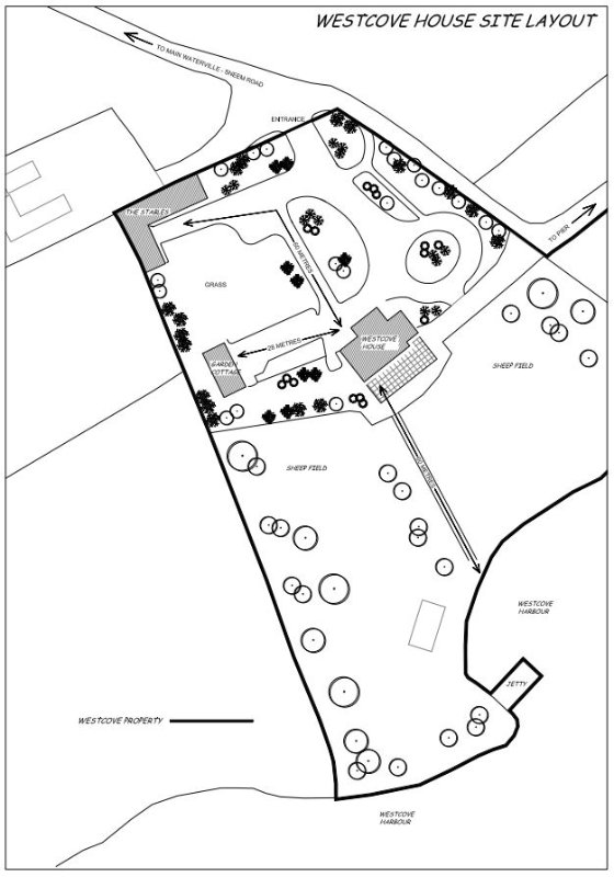 Westcove House, The Stables and Garden Cottage Plattegrond
