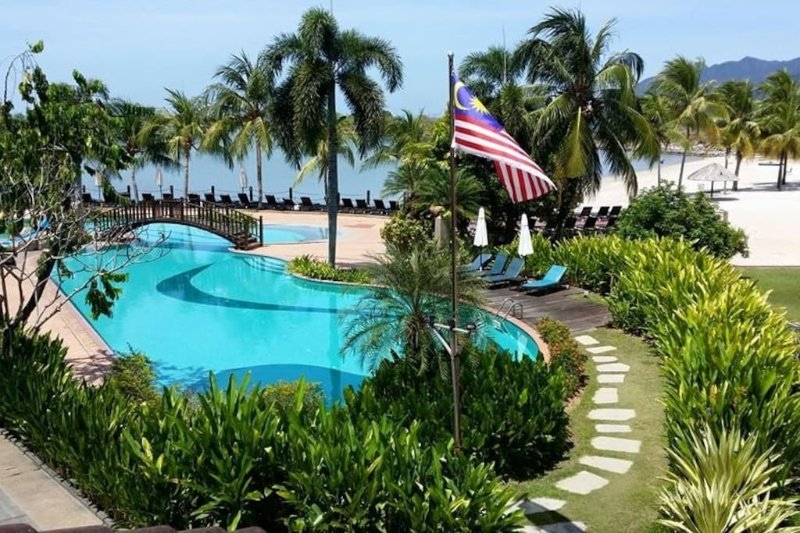 Resort swimming pool for guests use.