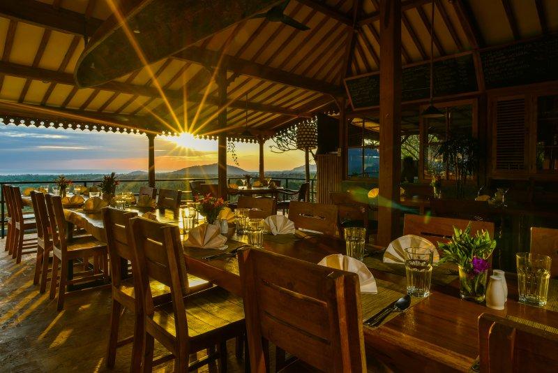 Sunrise at Suma restaurant, our restaurant at the retreat,