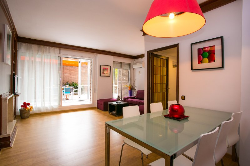 Apartment with large and private terrace, holiday rental in Barcelona