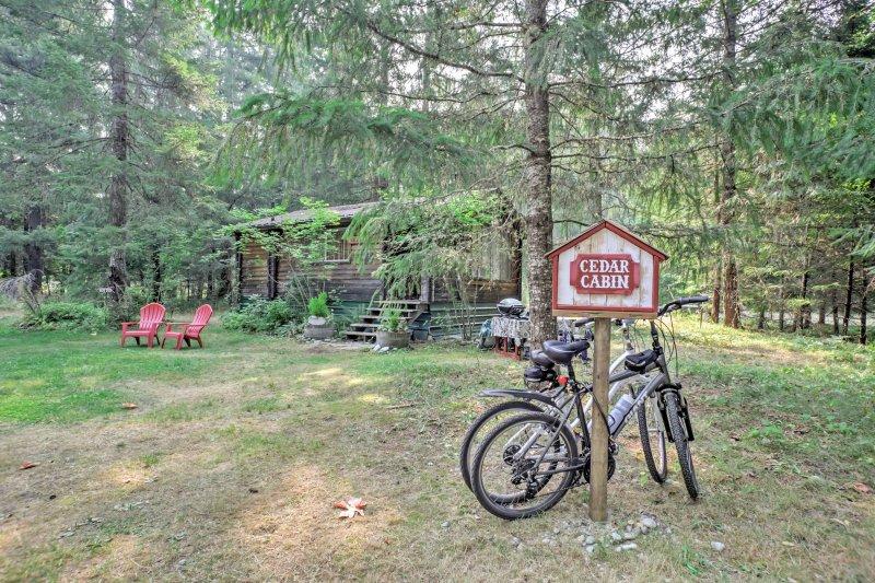 Sorprendete la persona amata con un ritiro bosco romantico per Packwood quando il vostro soggiorno in questa casa vacanze cabina su 8 acri!