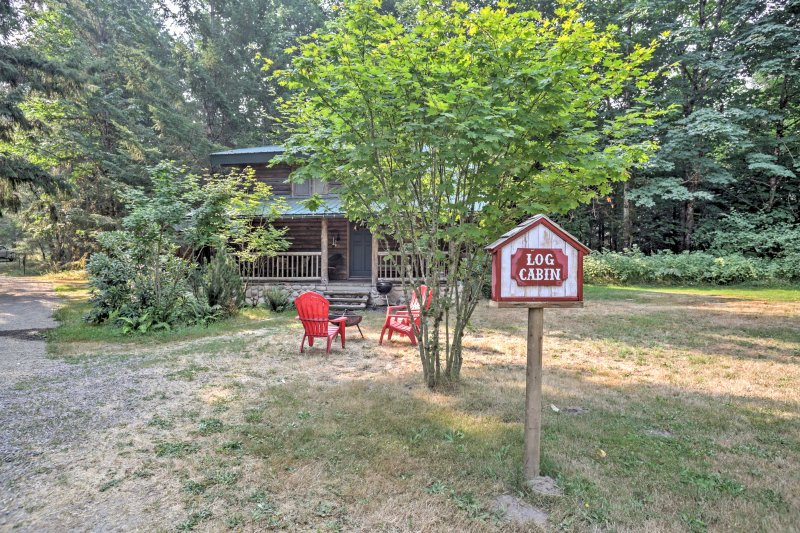 Quaint Packwood 'Log Cabin' on 8 Acres w/ Hot Tub!, holiday rental in Packwood