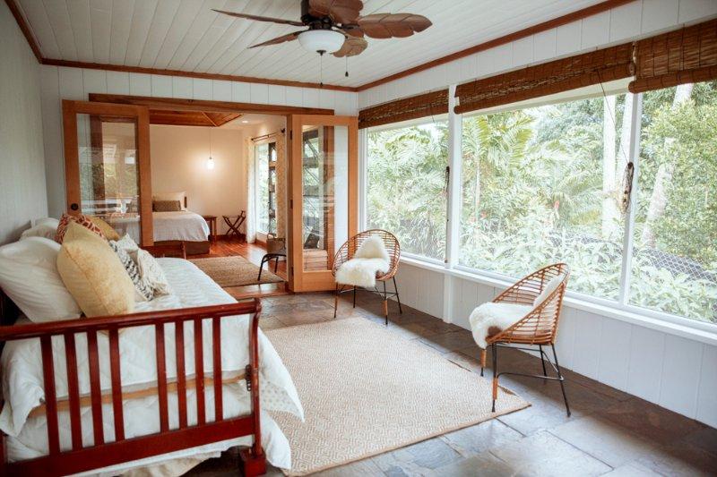 Lo'i Bed & Breakfast - Palm Room, alquiler de vacaciones en Hilo