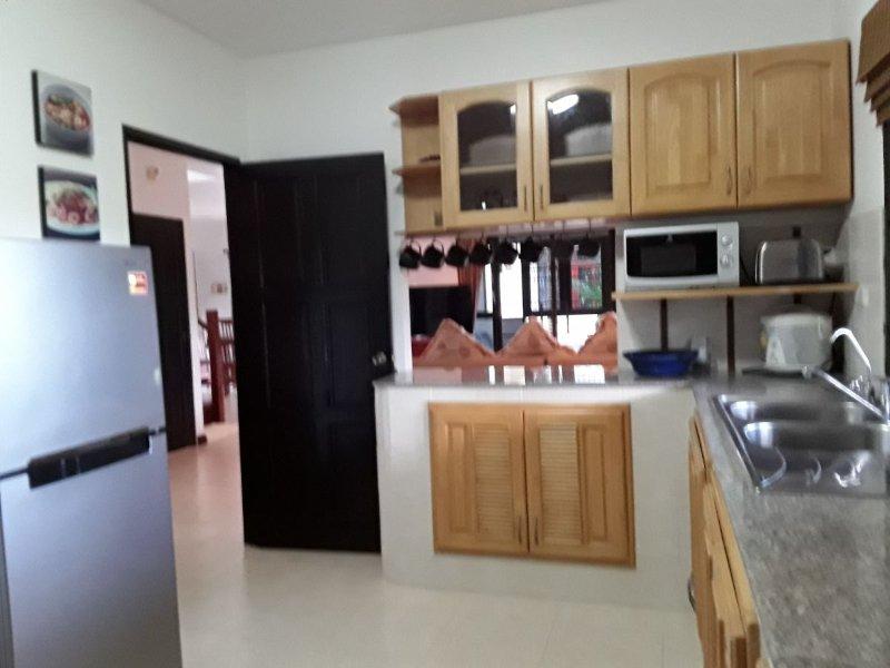Küche mit Durchreiche zum Wohn / Esszimmer
