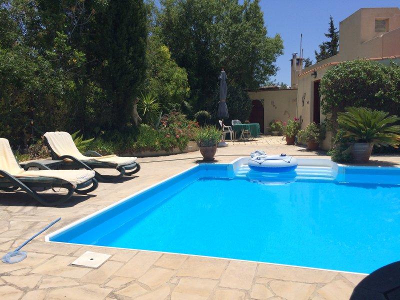 Hillside villa with stunning sea views, holiday rental in Amargeti