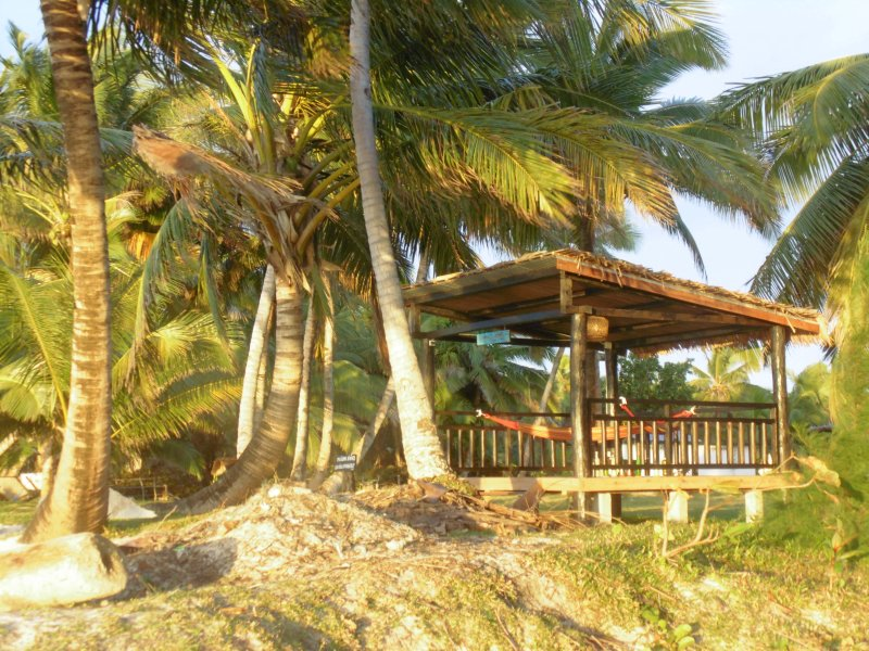 The gazebo with hammocks to rest or contemplate the ocean