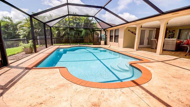 Screened in Pool Area