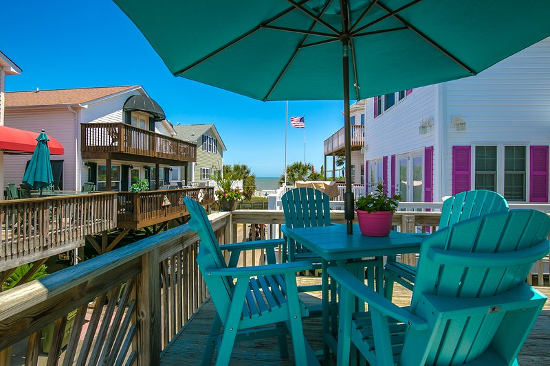 Fabulous Ocean Views from both Decks.  House within walking distance to beach.