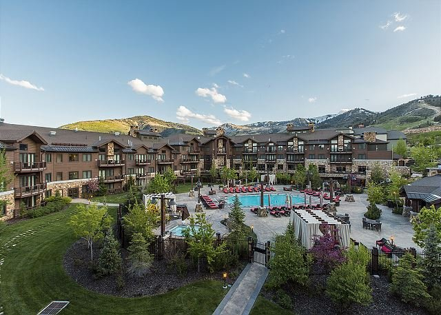 Views of the Beautiful Mountains, Resort Pool & Grounds