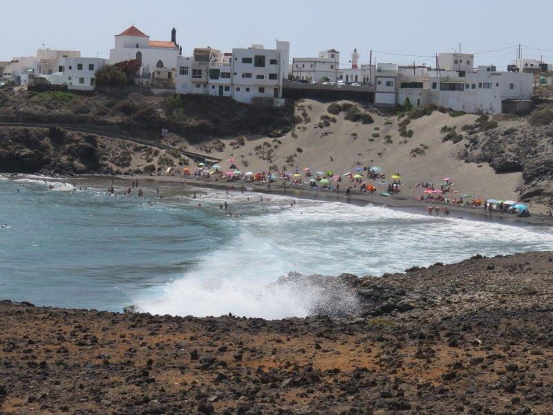 zeer rustige nabijgelegen strand.