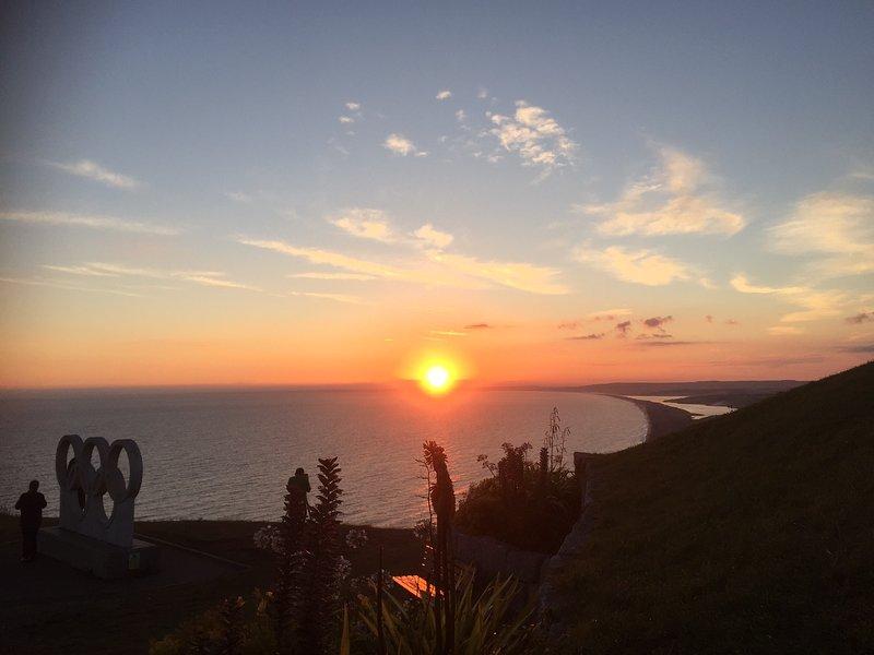 Coucher de soleil depuis le sommet de l'île