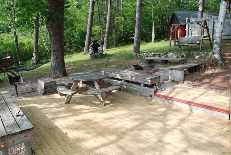 Firepit and deck area.