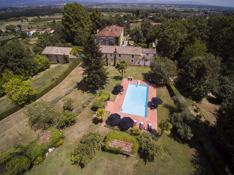 Drone view on Villa Theresia