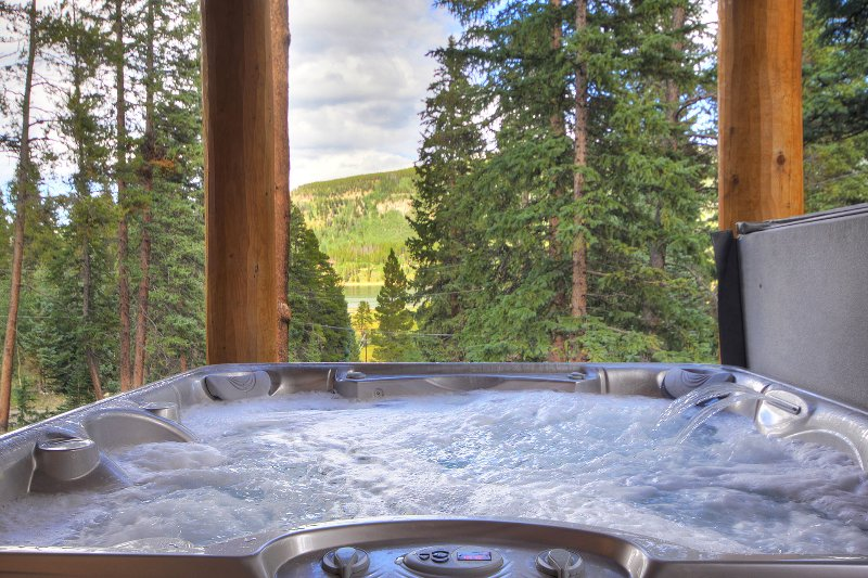 Lake view from hot tub