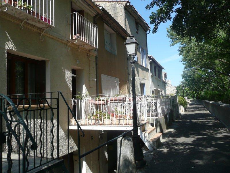 maison sans vis à vis - avec passerelle sur le 'quai' - voie piétonne, vacation rental in Aramon