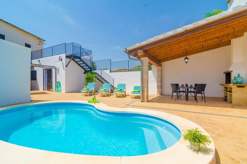 CAN PISTOLA - Villa for 6 people in Algaida, vacation rental in Algaida
