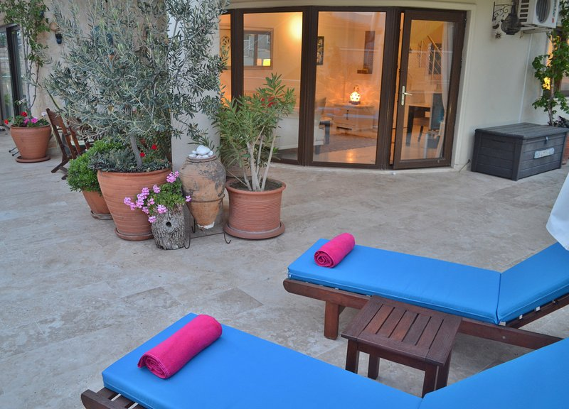 Avec la terrasse près de la piscine juste devant votre porte arrière, votre prochaine Efes est jamais très loin