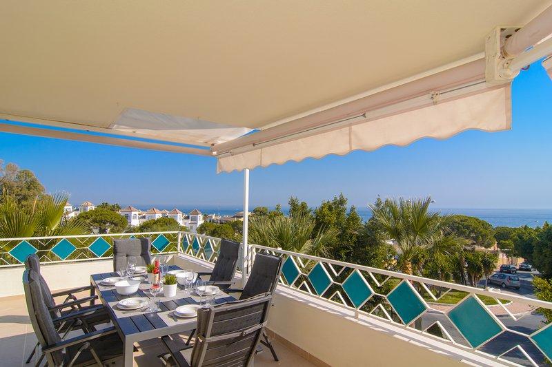 Panoramablick über den Strand und El Arenal